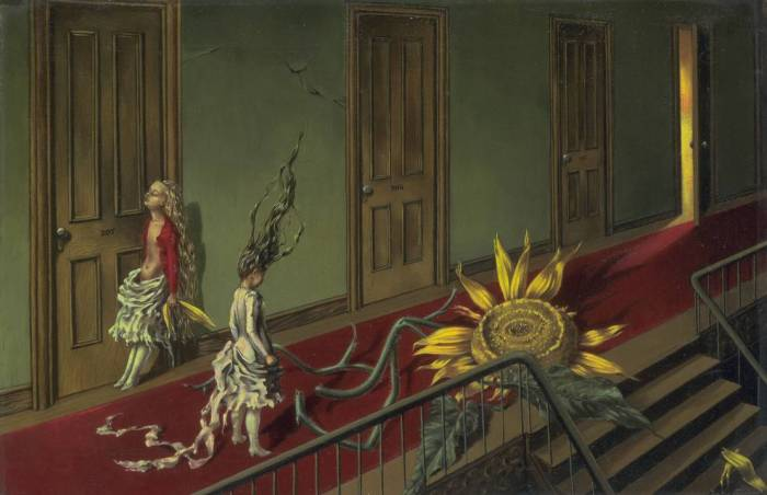 Eine Kleine Nachtmusik 1943 Dorothea Tanning born 1910 Purchased with assistance from the Art Fund and the American Fund for the Tate Gallery 1997 http://www.tate.org.uk/art/work/T07346